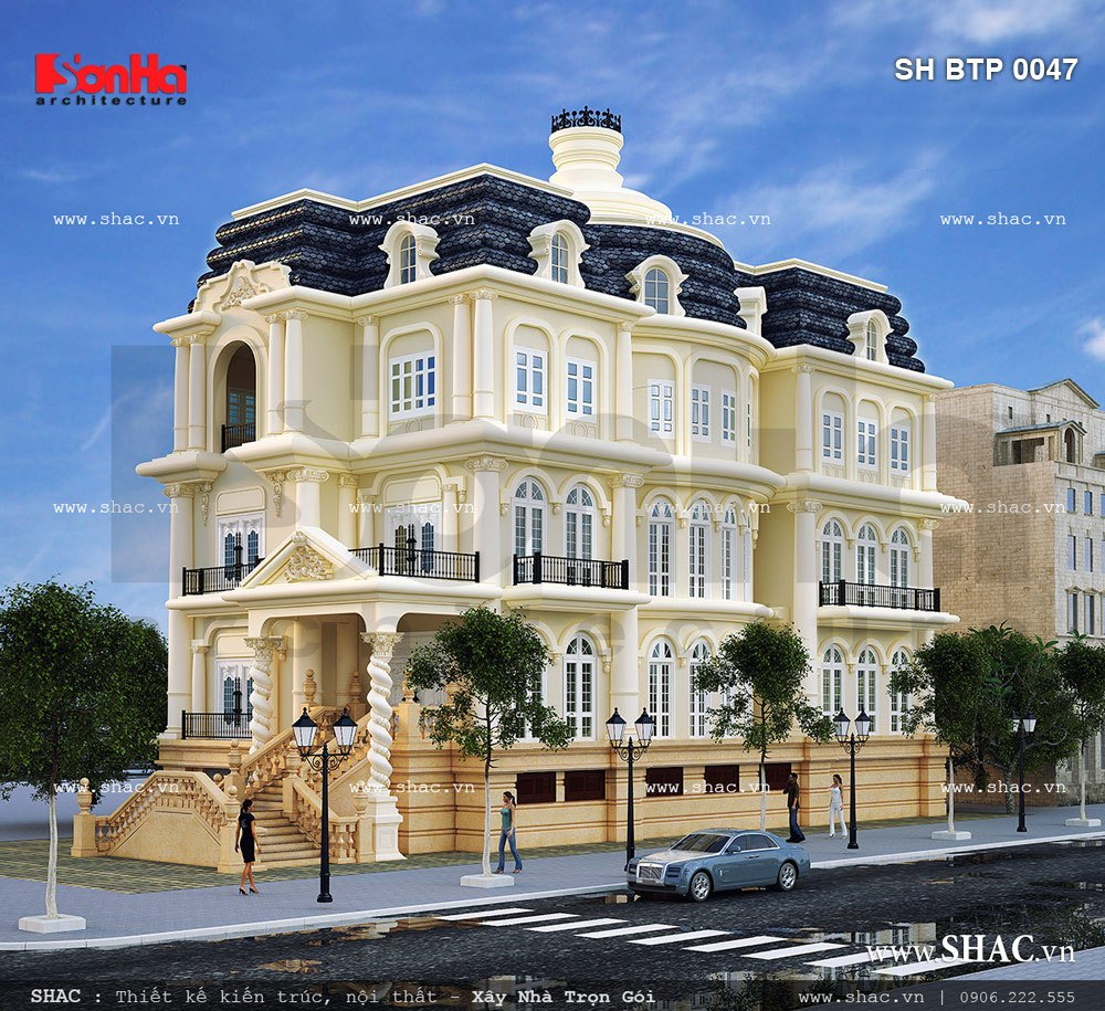Các mẫu thiết kế biệt thự phố đẹp tại Hải Dương 3
