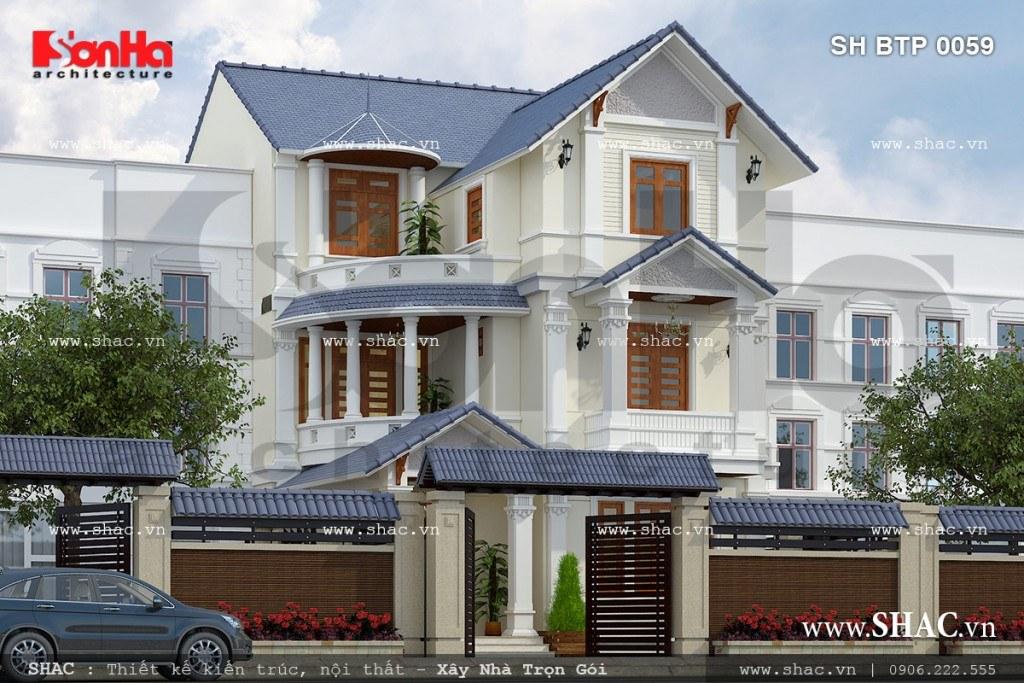 Những mẫu thiết kế biệt thự cao cấp 3 tầng tiện nghi 1