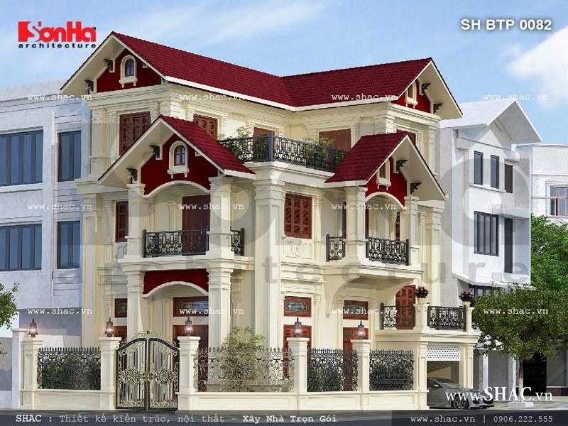 Những mẫu thiết kế biệt thự cao cấp 3 tầng tiện nghi 3