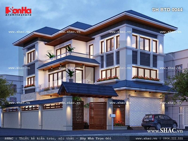 Những mẫu thiết kế biệt thự cao cấp 3 tầng tiện nghi 4