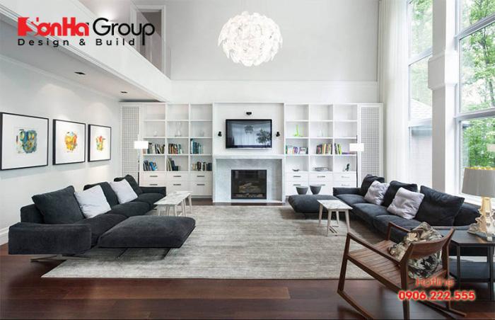 Trang trí phòng khách 20m2 với xu hướng nội thất hiện đại vạn người mê 6