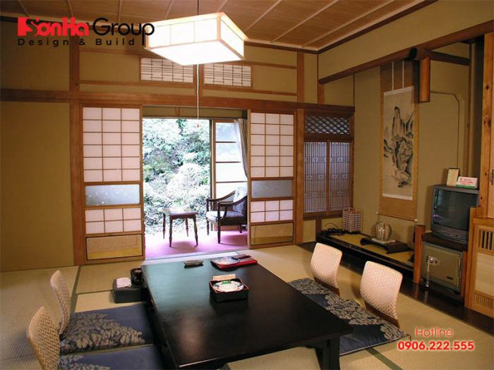 Cửa trượt (Shoji) quen thuộc là những đặc trưng trong thiết kế nội thất kiểu Nhật