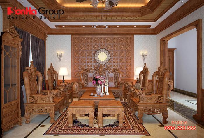 20 Kiểu trang trí phòng khách theo phong cách cổ điển lộng lẫy cho nhà biệt thự 2