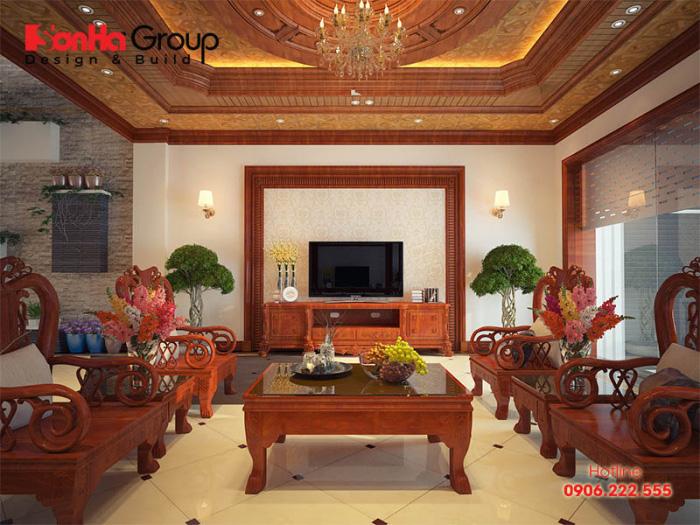 20 Kiểu trang trí phòng khách theo phong cách cổ điển lộng lẫy cho nhà biệt thự 4