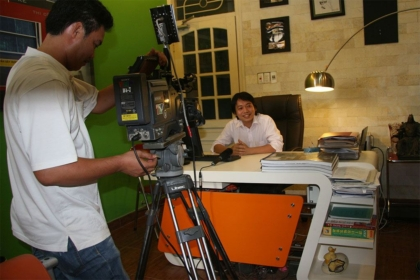 GĐ Nguyễn Hoàng Long trả lời phỏng vấn Đài truyền hình Hải Phòng