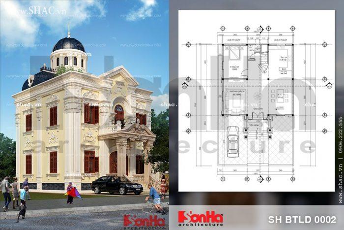 Biệt thự lâu đài mini sh btld 0002