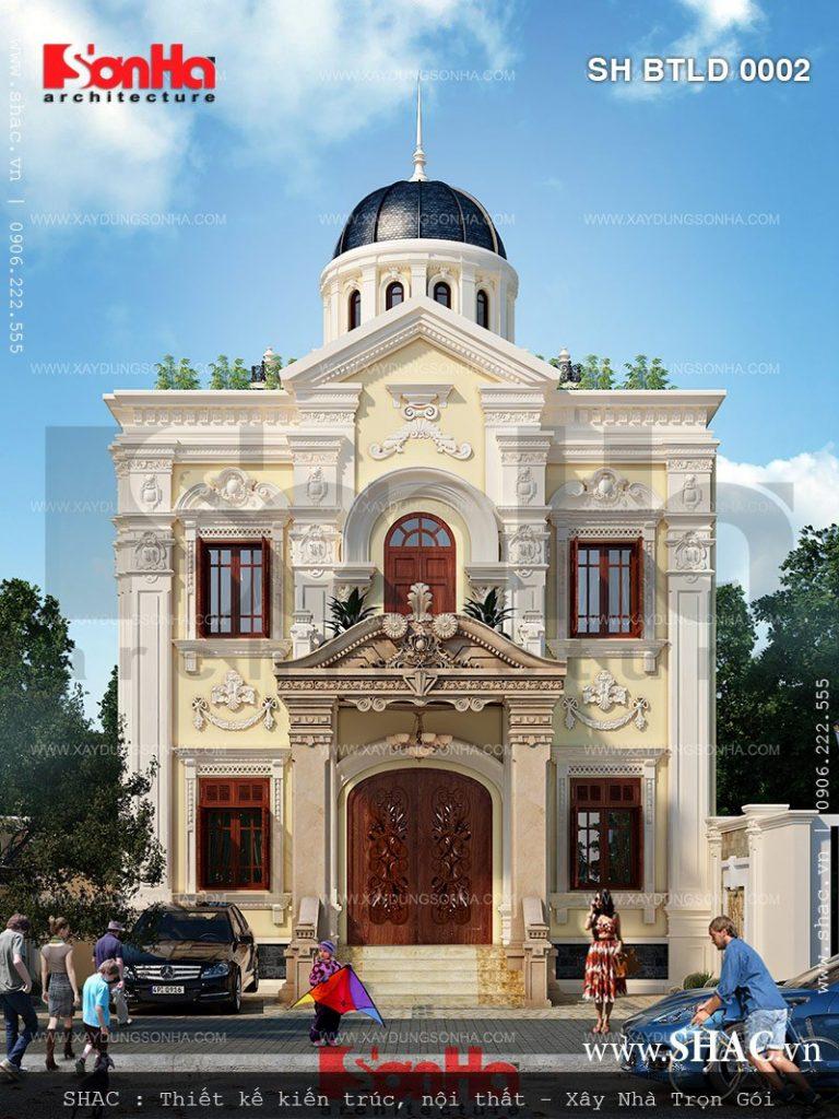 Biệt thự lâu đài pháp mặt tiền 10m sh btld 0002