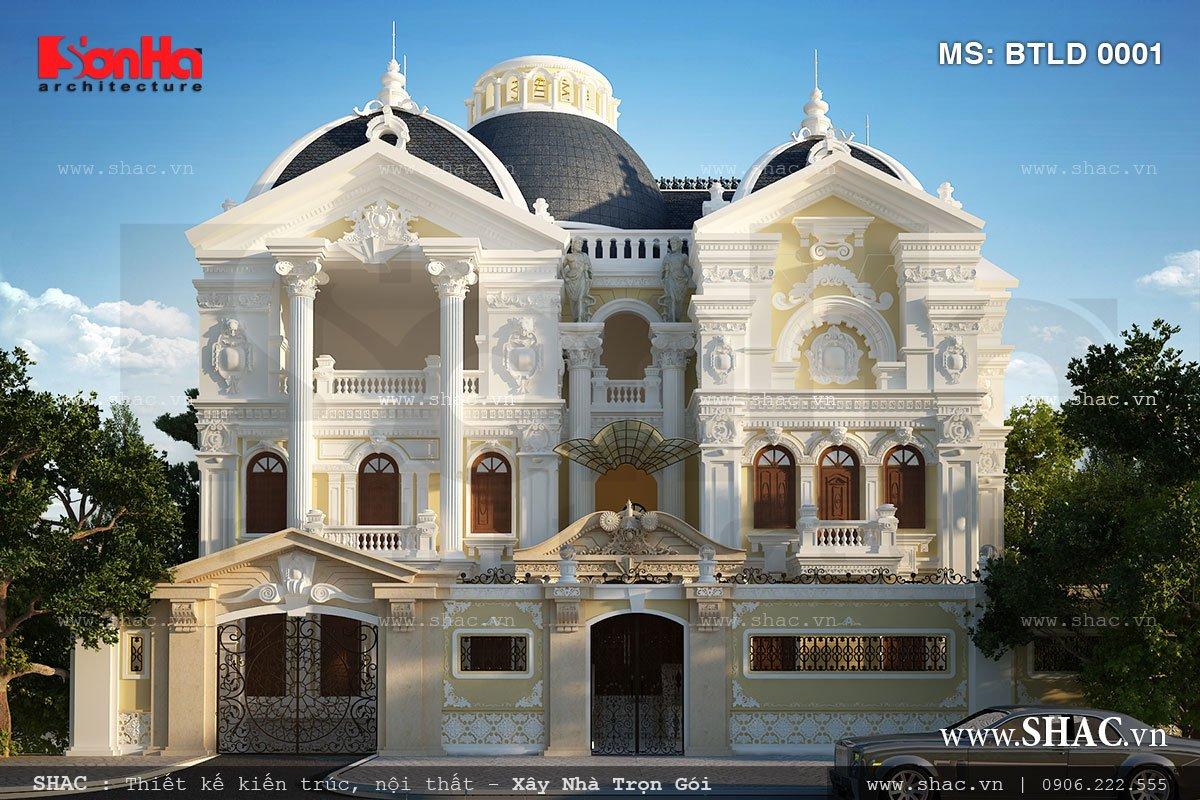 Biệt thự lâu đài kiến trúc Pháp 3 tầng - BTLD 0001 1