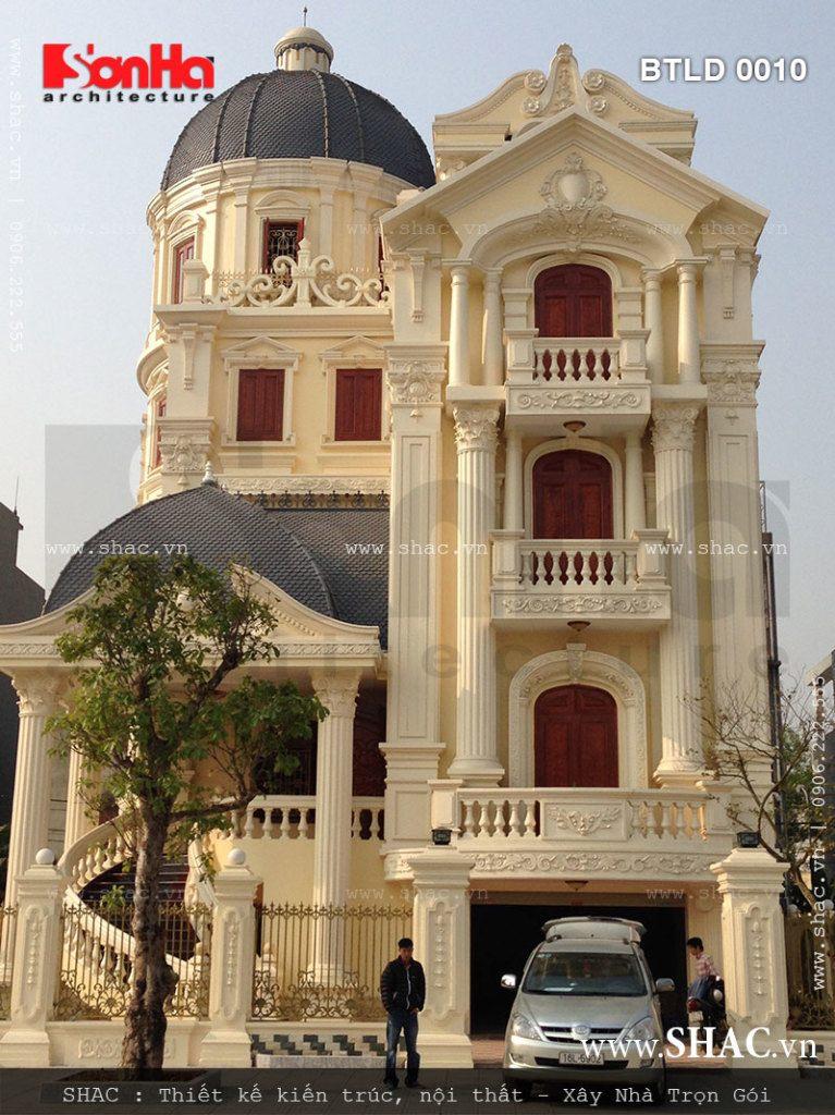 Công trình biệt thự lâu đài thuộc quyển sở hữu của chủ đầu tư Nguyễn Thị Huế khẳng định đẳng cấp và năng lực thi công trọn gói của SHAC tại Hải Phòng cũng như trên toàn quốc