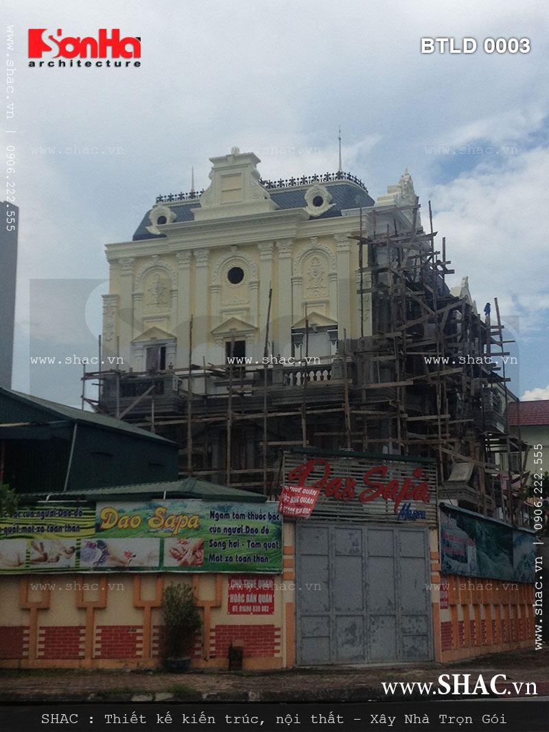 Kiến trúc biệt thự pháp 4 tầng trọn gói - BTLD 0003 23