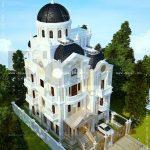 Kiến trúc biệt thự pháp 4 tầng trọn gói - BTLD 0003 19