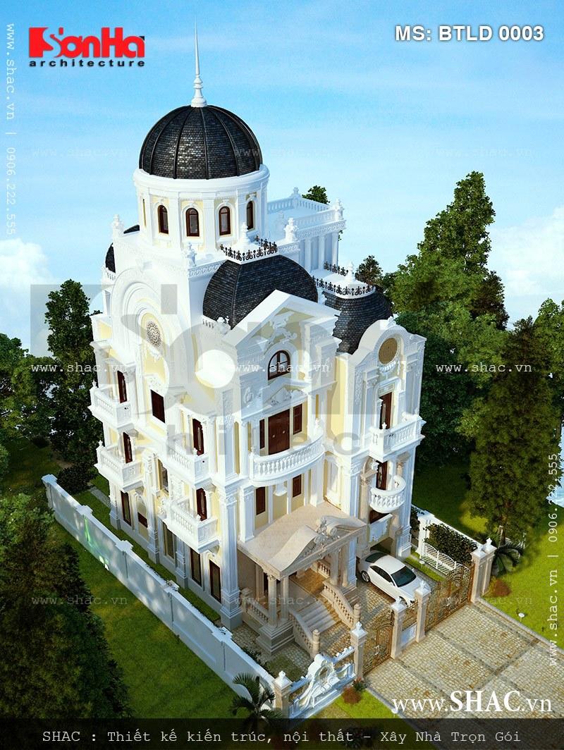 Kiến trúc biệt thự pháp 4 tầng trọn gói - BTLD 0003 2