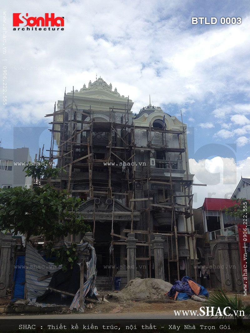 Kiến trúc biệt thự pháp 4 tầng trọn gói - BTLD 0003 22