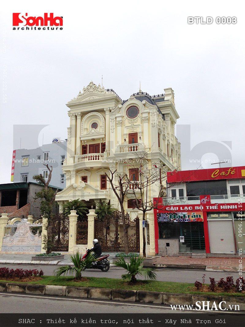 Kiến trúc biệt thự pháp 4 tầng trọn gói - BTLD 0003 24