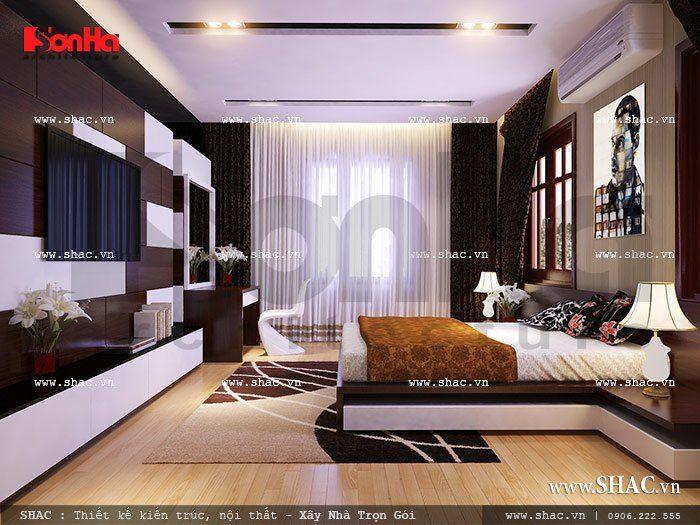 Mẫu thiết kế nội thất phòng ngủ tiện nghi hứa hẹn sẽ đem đến những phút giây thư giãn thoải mái lý tưởng cho gia chủ