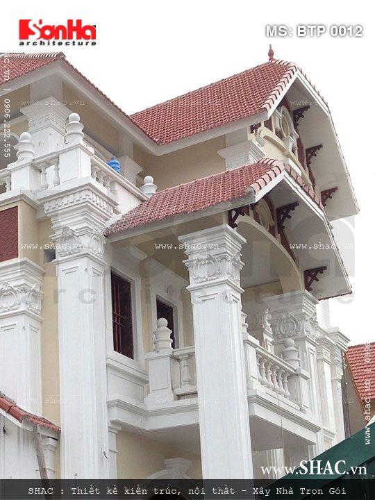 Ảnh thực tế kiến trúc biệt thự 3 tầng tinh tế trong từng chi tiết