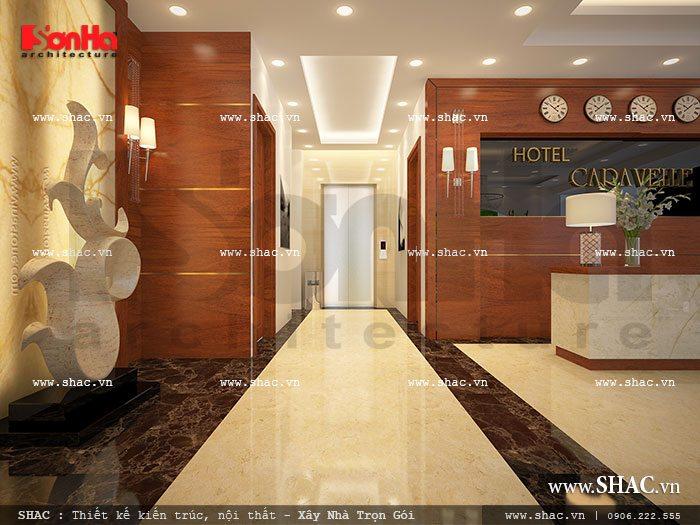 Khu vực sảnh lễ tân khách sạn