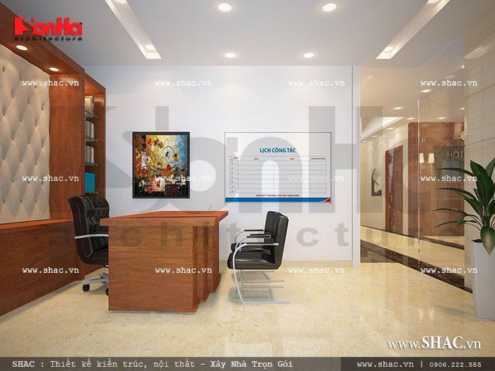Không gian phòng làm việc, phòng nghiệp vụ chuyên môn của khách sạn 3 sao