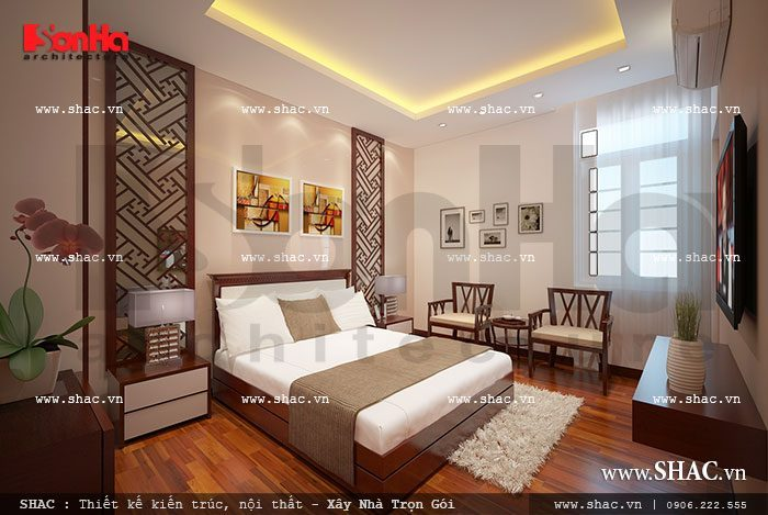 Thiết kế nội thất phòng ngủ khách sạn tiêu chuẩn 3 sao ấm cúng, thân thuộc với vật dụng hiện đại cao cấp