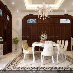 Phòng ăn biệt thự pháp, phòng ăn cổ điển kiểu pháp, phòng ăn sang trọng, nội thất phòng ăn đẹp