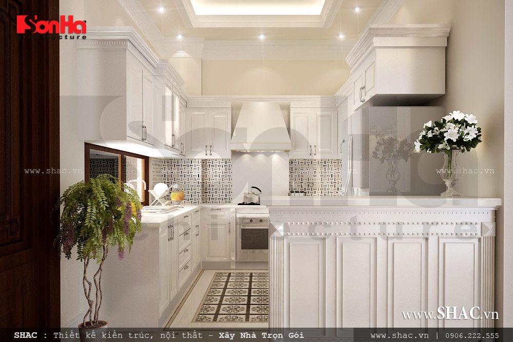 Phòng ăn biệt thự pháp, nội thất phòng ăn cổ điển, nội thất phòng bếp cổ điển, phòng bếp đẹp