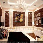 Phòng ngủ biệt thự, phòng ngủ pháp cổ điển, thiết kế phòng ngủ kiểu pháp