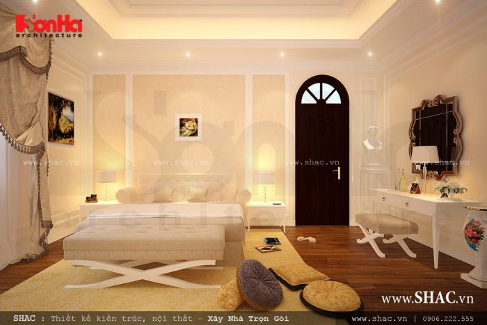 Phòng ngủ cổ điển đơn giản