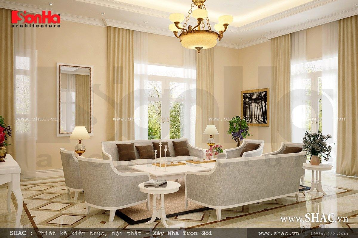 Sofa phòng khách đẹp kiểu châu ÂU