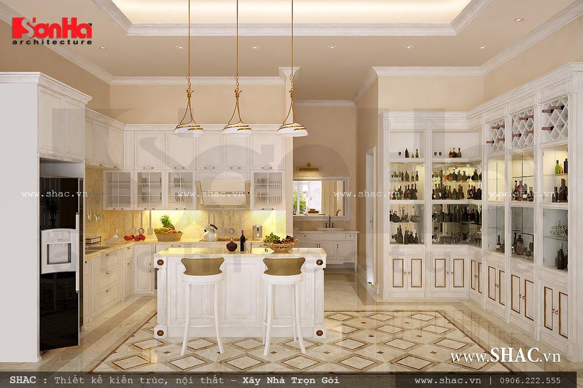 Nội thất phòng bếp kiểu Pháp đẹp