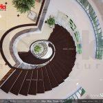 Thiết kế cầu thang đẹp uốn lượn