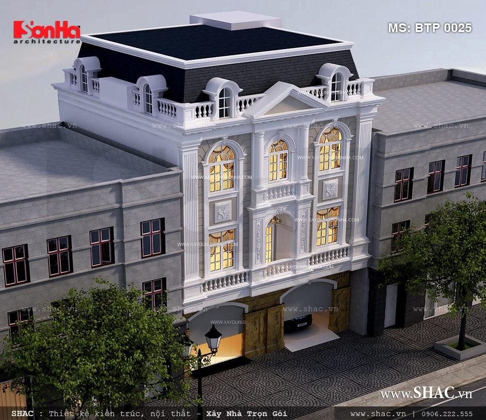 Biệt thự Pháp 3 tầng diện tích 12m x20m tại Hà Nội - BTP 0025