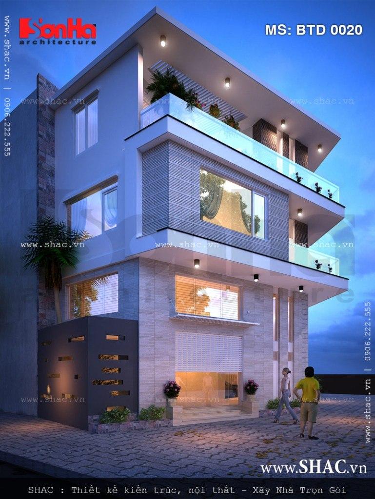 Biệt thự hiện đại 3 tầng đẹp