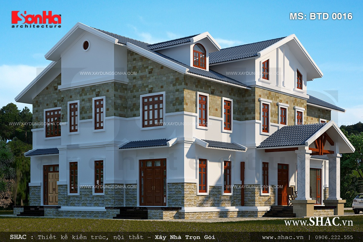 Biệt thự hiện đại 3 tầng tại Kiên Giang - BTD 0016 2