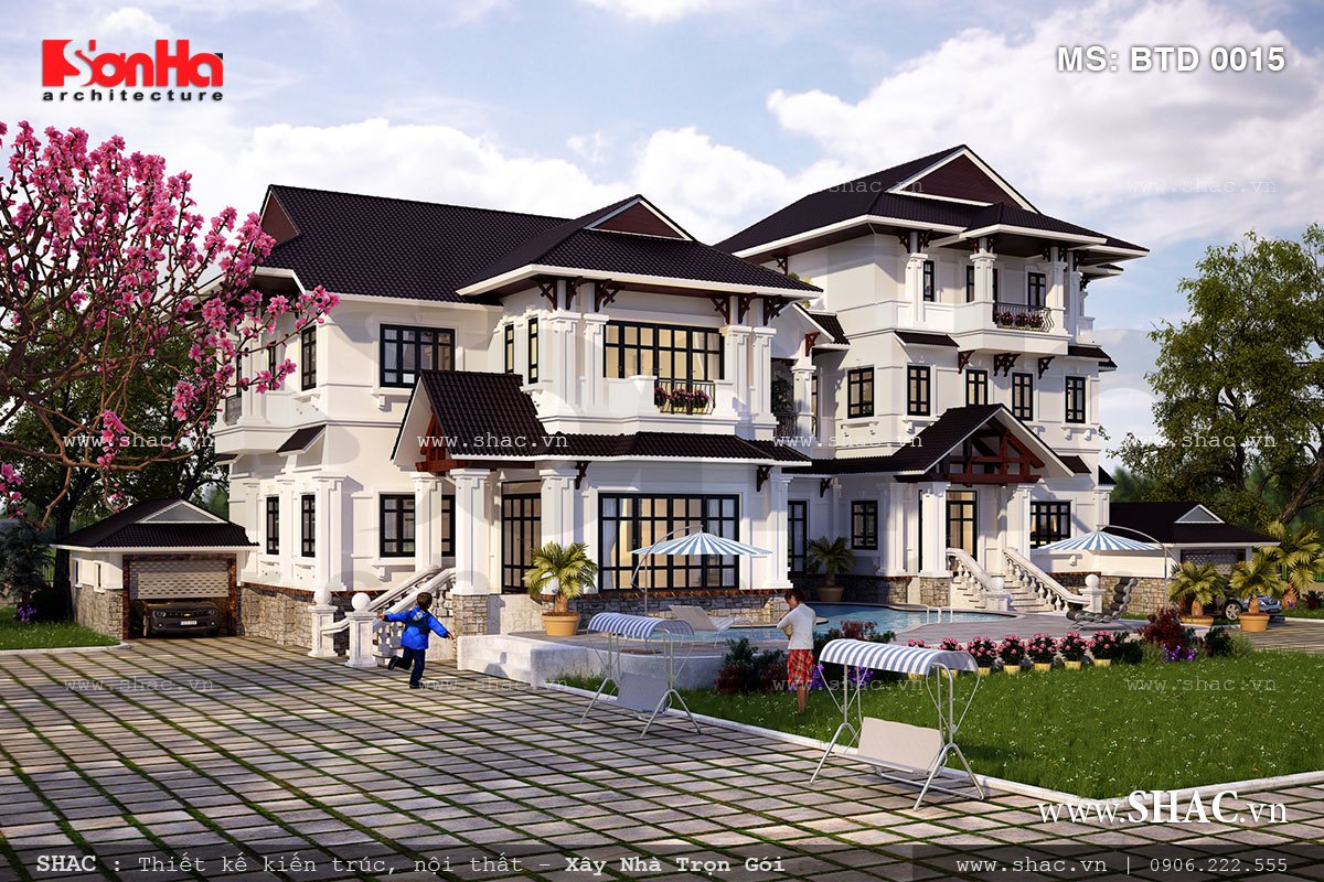 Biệt thự hiện đại 3 tầng tại Nam Định - BTD 0015 1