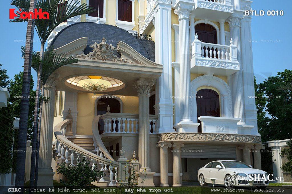 Thiết kế Biệt thự lâu đài kiến trúc Pháp cổ điển sang trọng, biệt thự pháp 5 tầng, mẫu biệt thự pháp đẹp