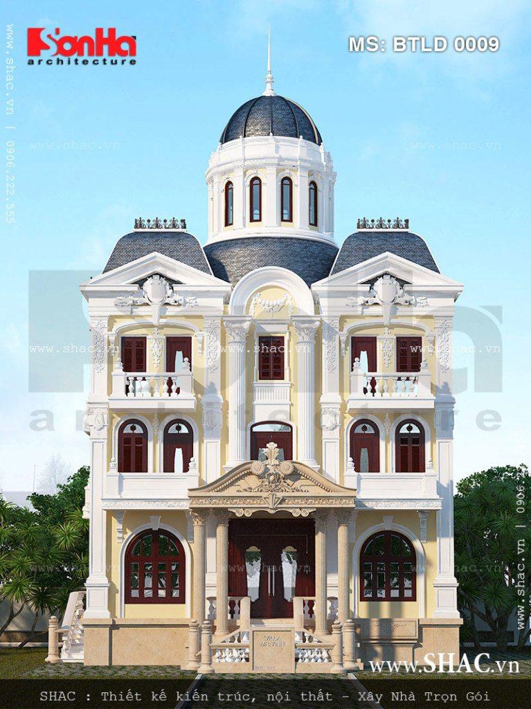 Biệt thự 3 tầng mang dáng dấp lâu đài pháp cổ điển