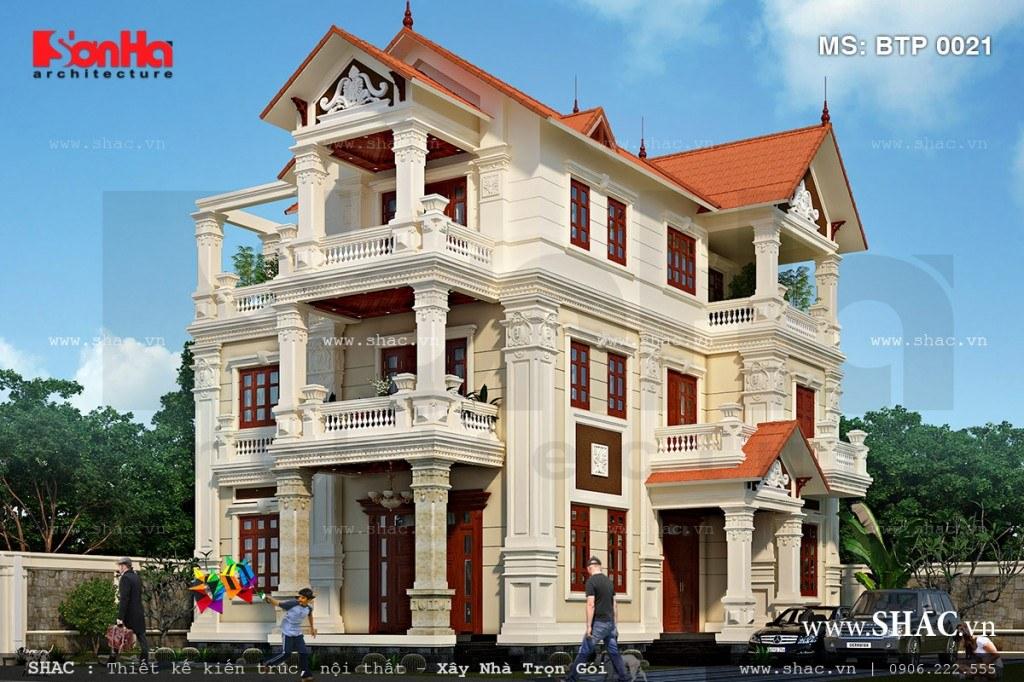 Biệt thự Pháp đẹp 3 tầng