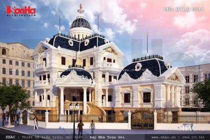 Biệt thự lâu đài pháp mái ngói đen