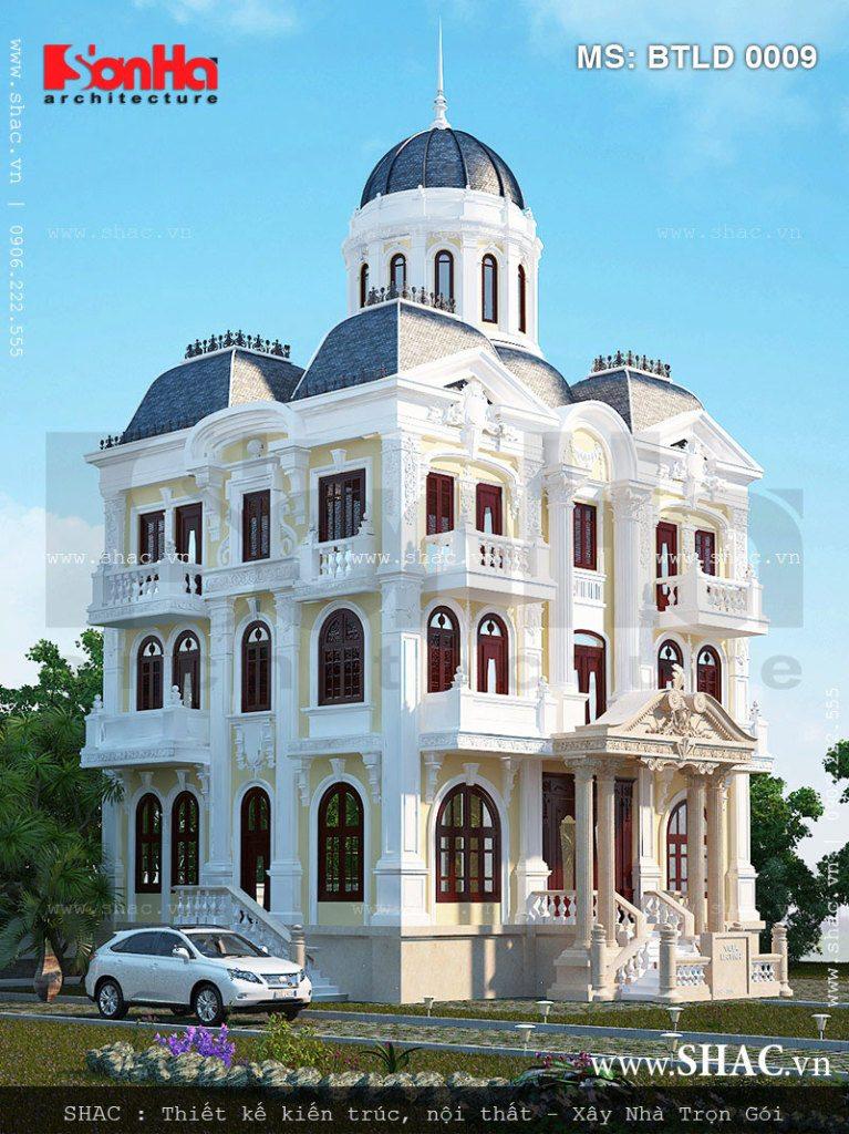 Biệt thự Pháp đẹp kiểu lâu đài - BTP 0015