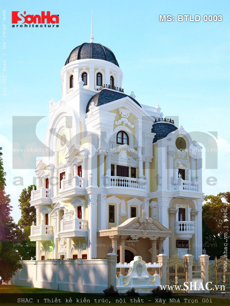 Biệt thự đẹp - Biệt thự lâu đài cổ điển sang trọng