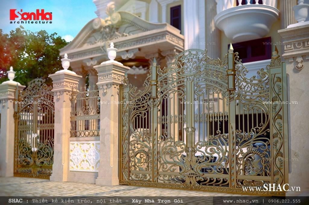 Cổng biệt thự pháp đẹp, hàng rào và cổng đẹp
