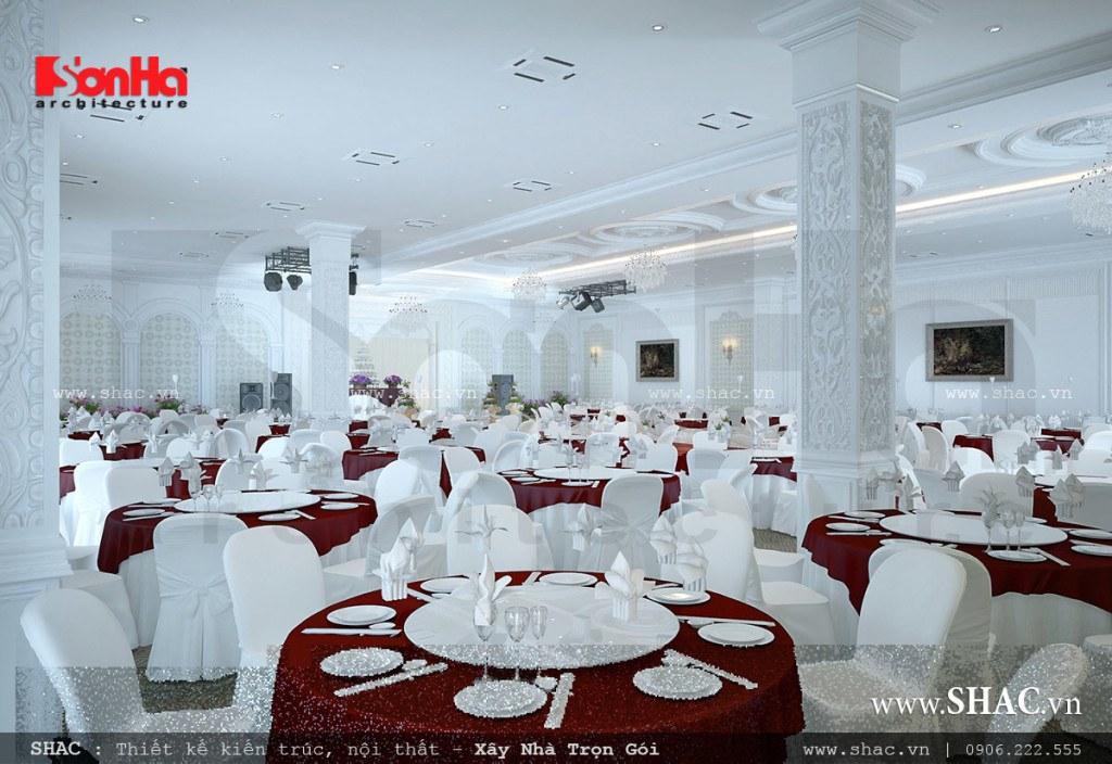 Tiệc cưới tầng 2