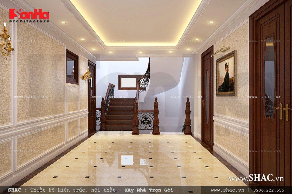 Không gian sảnh thang của biệt thự