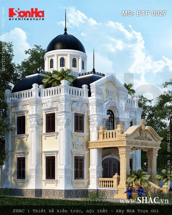 Mẫu thiết kế biệt thự cổ điển 2 tầng đẹp