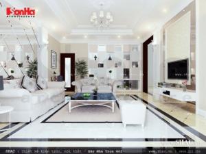 Mẫu phòng khách đẹp cho biệt thự hiện đại BTD 0015