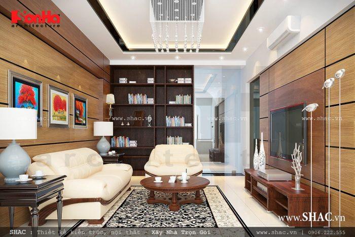 Mẫu phòng khách hiện đại, nội thất phòng khách, phòng khách nhà ống hiện đại