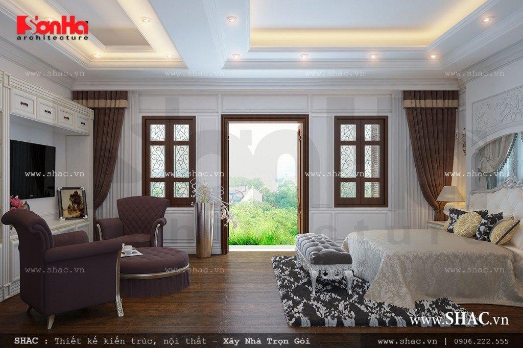 Mẫu phòng ngủ kiểu Pháp đẹp