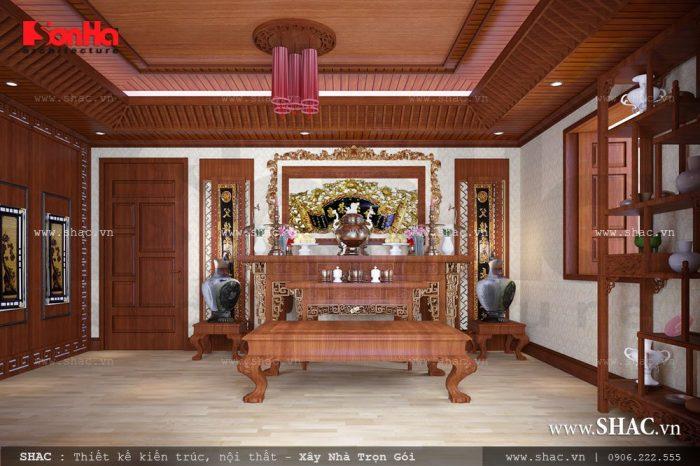 Phòng thờ gỗ
