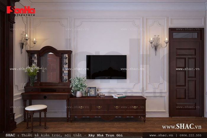 Thiết kế nội thất gỗ cho phòng ngủ thêm sang trọng và gần gũi