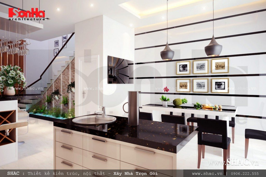nội thất phòng ăn, nội thất phòng bếp, bếp ăn đẹp và rộng